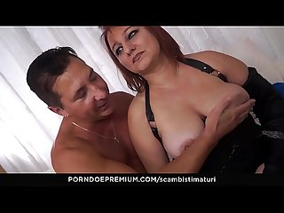 SCAMBISTI MATURI - Horny Amateur Italian Kiara Rizzi enjoys dirty anal swinger sex with eager guy
