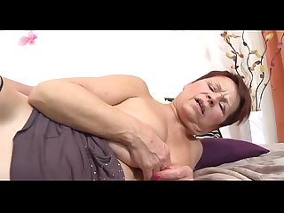 Grandma wakes me and suck my cock