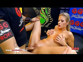 Bukkake Gangbang for babe Ria Sunn - German Goo Girls