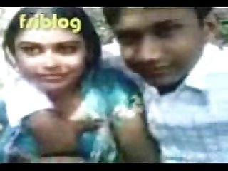 Bengali beauty smooches her boobs pressed in park bengali audio