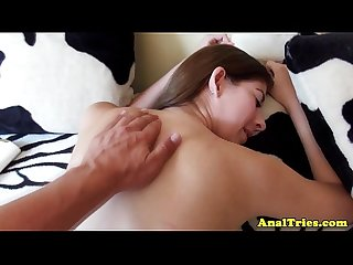 Anal loving girlfriend getting a massage