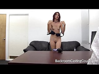 Slave christy chokes herself to anal orgasm