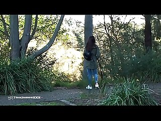 Nature's Nectar - ASIAN Tina PLAYS OUTDOOR PEE GAMES in the LOCAL PARK