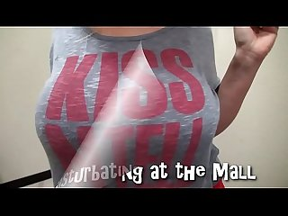 Milf masturbating at the mall