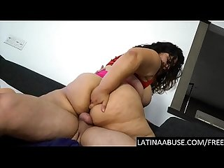 Extreme destruction of a Latina BBW