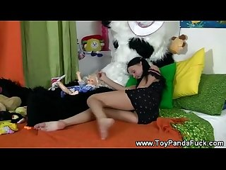 Cheeky toypanda comes to life to tease teen girl