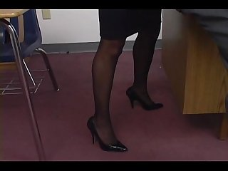Alexis silver fucking in pantyhose