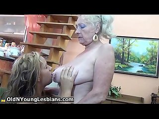Blonde mature granny loves having