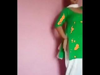 www.Nowwatchtvlive.org - indian desi girl dance in green dress