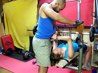 Fuck in sneakers in the gym part 1 c4s com slash 89232 nataliaandarami real interracial couple por