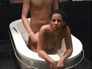Hot brunette milf on real homemade