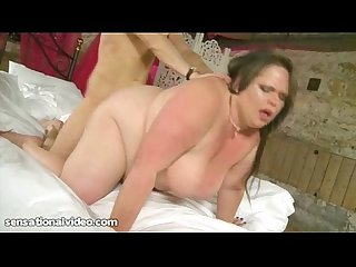 British bbw honey in her first hardcore scene