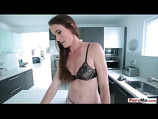 Helping my busty stepmom around the kitchen