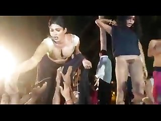 Indian sexy outdoor record dance - andhra record dance on public