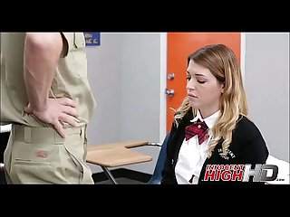 High School Girl Caught By Janitor With Weed - InnocentHighHD.com