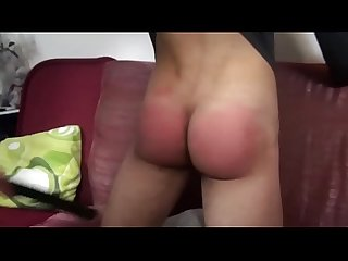 spank cute boy then he cums