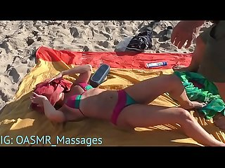 Beach Boobs, Body and Feet Massage (HOT RUSSIAN)