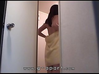 Japanese amateur teen private shower