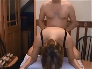 Curvy milf gets fucked on homemade
