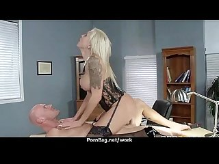 Big titted office milf fucks at work 6