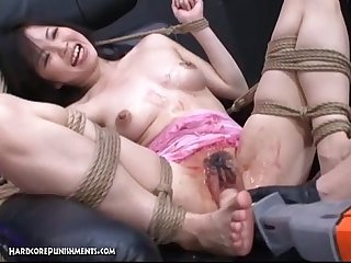 Japanese bondage sex pour some goo over me pt 13