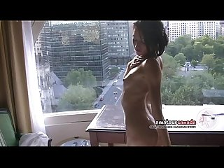 Skinny french montreal porn star hellizabeth flashing toned fit body