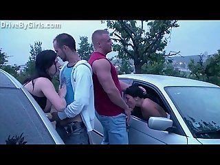 One more girl joins a public sex gang bang dogging orgy with complete strangers