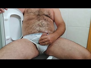 Pissing on my hairy body and cumshot