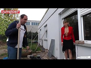 LETSDOEIT - German Wife Fucked Rough by Neighbor