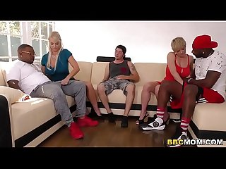 Dee Williams and London Interracial Foursome Sex