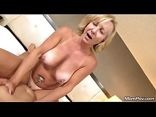 All Natural Big Tits Czech MOM First Porn and Facial Ever POV