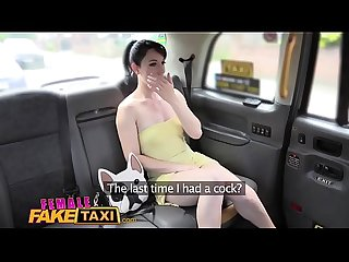 Female fake taxi slick wet pussies licked fucked with sex toys in taxi