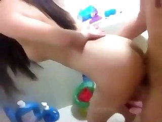 Korean couple doggy in the bathroom more at hanquoc18 blogspot com