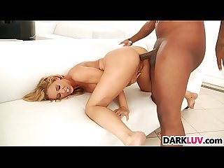 Blonde babe Cherie DeVille takes BBC anal