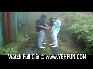 Indian couple having sex in garden