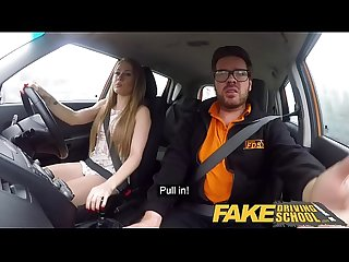 Fake driving school carmel anderson ends lesson with an orgasmic climax
