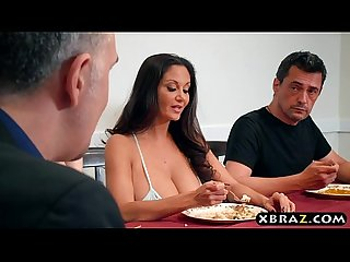 Huge tits wife makes sure this annoying guy stays away