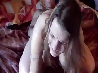 Brunette milf getting pussy creampie