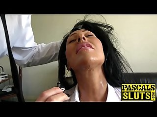 Busty slut candi kayne drilled hard in her wet shaved cunt