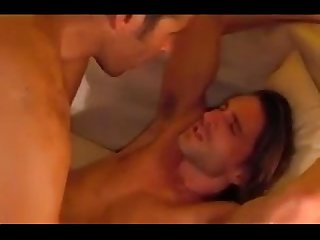 Hot hairy dad vs boy rim finger lick suck big balls