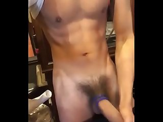 Chinese fit boy cum