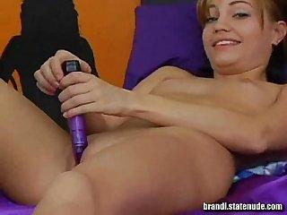 Brandi belle rubbing my clit