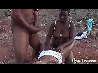 Rough African Groupsex safari orgy