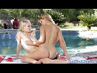 Lesbian babes enjoying scissoring session