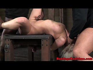 Bondage fetish sub cherry torn pounded