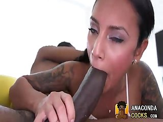 Interracialsex with astonishing amateur and bigblackcock