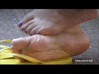 Mature latina barefoot soles