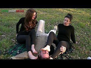 The Anna S experiences part 2 foot worship outdoor