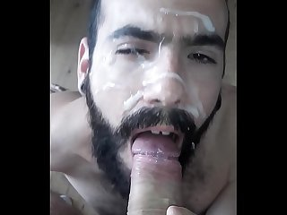 Daddy gives me a big facial full of Cum
