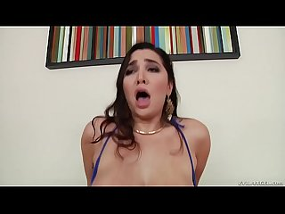 Hairy Karlee Grey squirts on a big cock